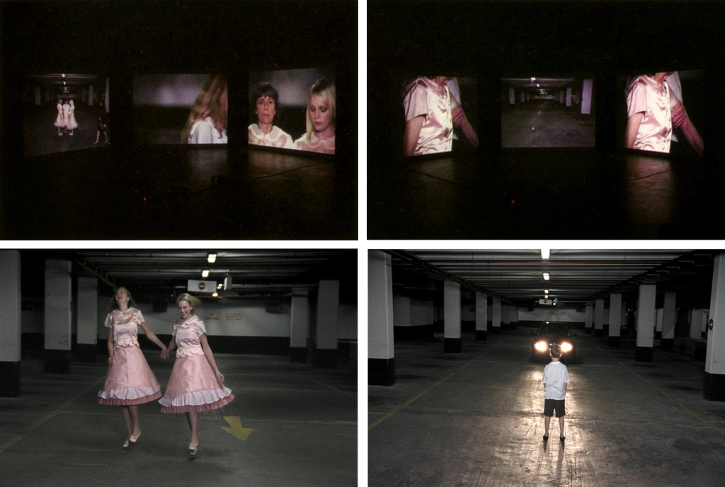 "Scenes from the video installation ""Black Lead"" of Corine Stübi"
