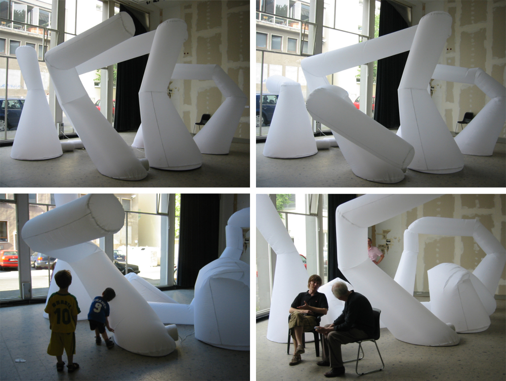 """Cognitive_Housings"", Mohamed Fezazi. The inflatable elements are controlled by recorded data of the architects brain function."